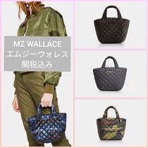 MZ WALLACE Camouflage Nylon Street Style Bag in Bag 2WAY Plain Totes