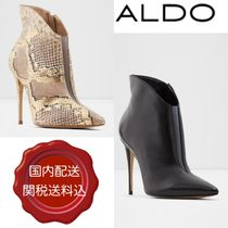 ALDO Plain Pin Heels Party Style Python Ankle & Booties Boots