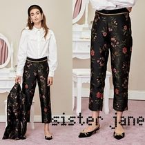 Sister Jane Flower Patterns Long Cropped & Capris Pants