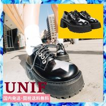 UNIF Clothing Star Leather Shoes