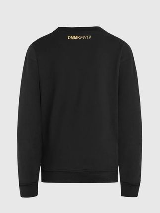 Street Style Long Sleeves Cotton Logo Sweatshirts