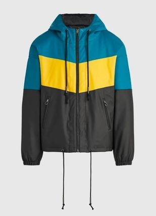 Short Nylon Street Style Raincoat Logo Jackets