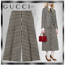 GUCCI Other Check Patterns Casual Style Wool Cotton Medium