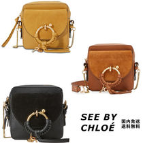 See by Chloe Blended Fabrics Plain Leather Shoulder Bags