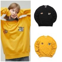 STEREO VINYLS COLLECTION Unisex Street Style Collaboration Long Sleeves Cotton Medium