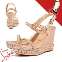 Christian Louboutin Casual Style Suede Party Style Platform & Wedge Sandals