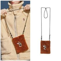 STEREO VINYLS COLLECTION Unisex Street Style Collaboration Shoulder Bags