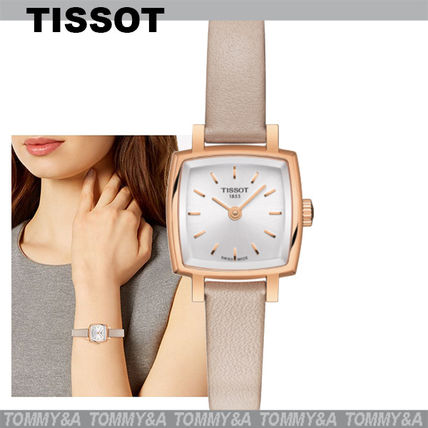 Leather Square Quartz Watches Stainless Elegant Style