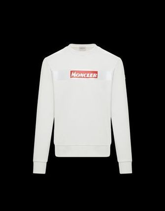 MONCLER Sweatshirts Crew Neck Street Style Long Sleeves Cotton 2