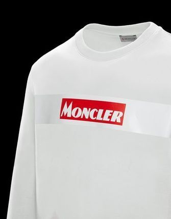 MONCLER Sweatshirts Crew Neck Street Style Long Sleeves Cotton 3