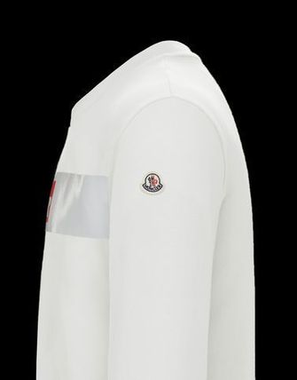 MONCLER Sweatshirts Crew Neck Street Style Long Sleeves Cotton 4