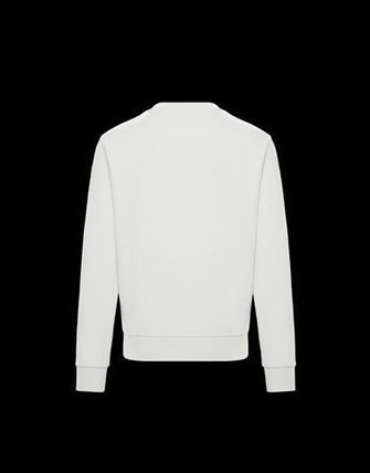 MONCLER Sweatshirts Crew Neck Street Style Long Sleeves Cotton 5