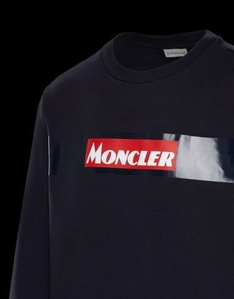 MONCLER Sweatshirts Crew Neck Street Style Long Sleeves Cotton 7
