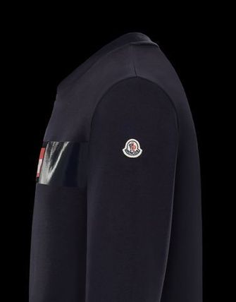 MONCLER Sweatshirts Crew Neck Street Style Long Sleeves Cotton 8