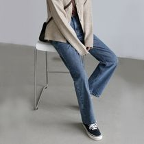 Denim Street Style Plain Long Military Wide & Flared Jeans