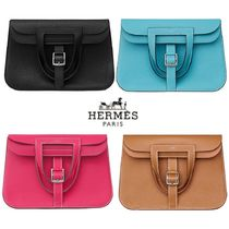 HERMES Casual Style Leather Party Style Elegant Style Shoulder Bags