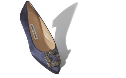 Blended Fabrics Plain With Jewels Elegant Style Flats