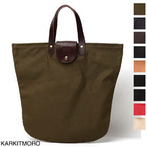 IL BISONTE Casual Style A4 Leather Totes