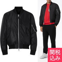Burberry Short Monogram Nylon MA-1 Bomber Jackets