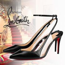 Christian Louboutin Plain Leather PVC Clothing High Heel Pumps & Mules