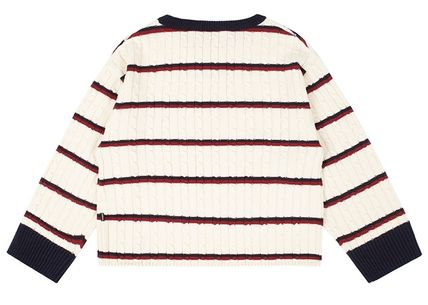ROMANTIC CROWN Vests & Gillets Cable Knit Pullovers Stripes Unisex Street Style U-Neck 19