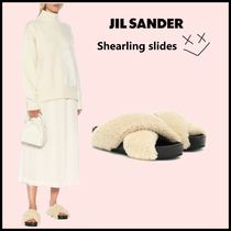 Jil Sander Casual Style Plain Leather Slippers Sandals Sandal