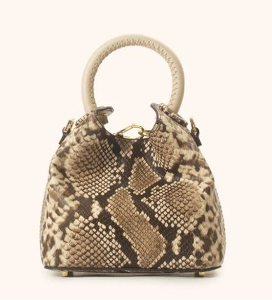 Casual Style 2WAY Leather Party Style Python Elegant Style