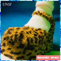 UNIF Clothing Leopard Patterns Platform Block Heels Elegant Style Shoes