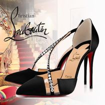 Christian Louboutin Studded Plain PVC Clothing High Heel Pumps & Mules