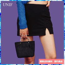 UNIF Clothing Casual Style Plain PVC Clothing Handbags