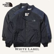 THE NORTH FACE WHITE LABEL Short Street Style Plain MA-1 Bomber Jackets