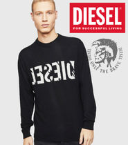 DIESEL Pullovers Wool Cashmere Blended Fabrics Fine Gauge