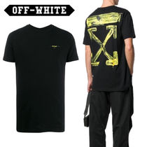 Off-White Crew Neck Pullovers Cotton Short Sleeves Crew Neck T-Shirts