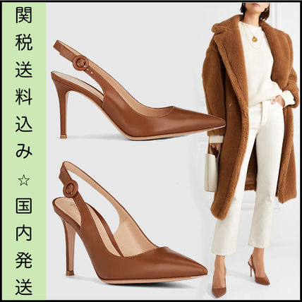 competitive price price reduced best supplier Gianvito Rossi Casual Style Plain Leather Pin Heels Elegant Style  (G93800-85RIC-VITCUOI)