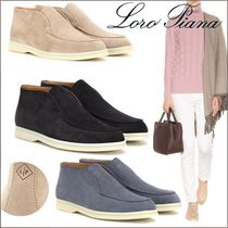 Loro Piana Platform Casual Style Suede Plain Office Style