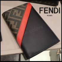 FENDI Monogram Calfskin Blended Fabrics Wallets & Small Goods