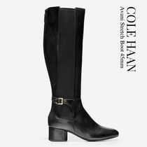 Cole Haan Casual Style Plain Leather Mid Heel Boots