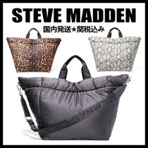 Steve Madden Leopard Patterns Casual Style Nylon A4 2WAY Chain Plain