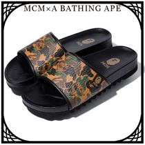 MCM Camouflage Unisex Street Style Collaboration Sandals