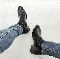 Saint Laurent Plain Leather Boots