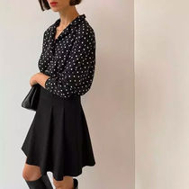 OAK + FORT Dots Casual Style Long Sleeves Medium Office Style