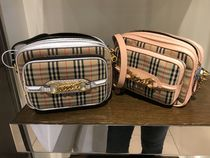 Burberry Other Check Patterns Casual Style Canvas Blended Fabrics