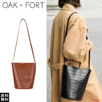 OAK + FORT Casual Style Faux Fur Other Animal Patterns Shoulder Bags
