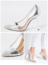 River Island Faux Fur Pointed Toe Pumps & Mules