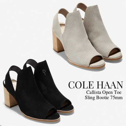 Cole Haan Casual Style Suede Plain Block Heels Ankle & Booties Boots