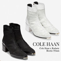 Cole Haan Blended Fabrics Other Animal Patterns Leather Block Heels