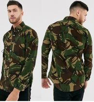 POLO RALPH LAUREN Button-down Camouflage Corduroy Long Sleeves Cotton Shirts