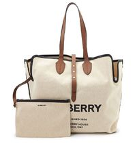 Burberry Canvas A4 2WAY Logo Totes
