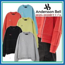 ANDERSSON BELL Crew Neck Pullovers Unisex Street Style Long Sleeves Plain