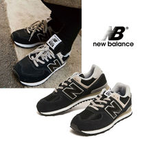 New Balance 574 Casual Style Unisex Plain Logo Low-Top Sneakers